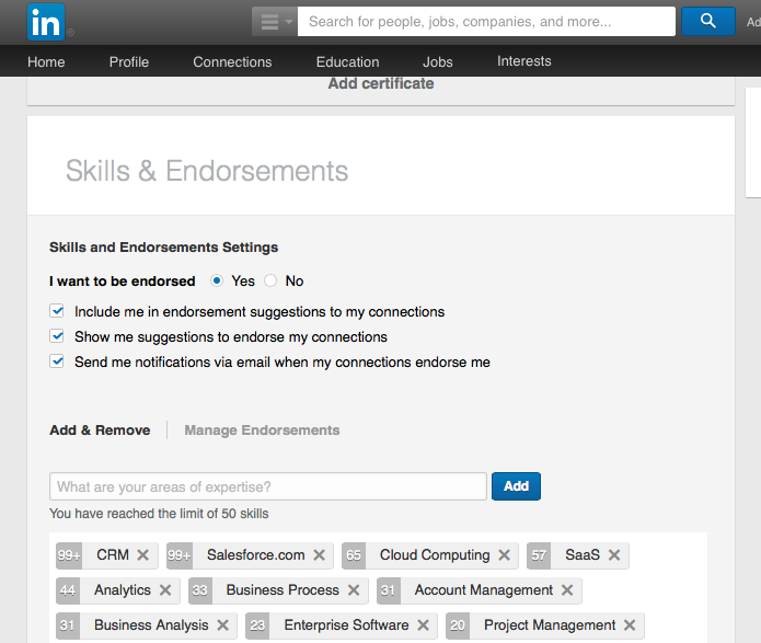 how to add an endorsement on linkedin